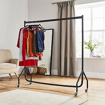 5 ft lang x 5 ft høj kvalitet Heavy Duty tøj jernbane sort