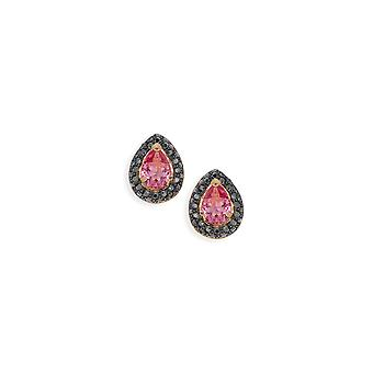 Pink earrings with crystals from Swarovski 518