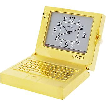Gift Time Products Laptop Computer Miniature Clock - Gold