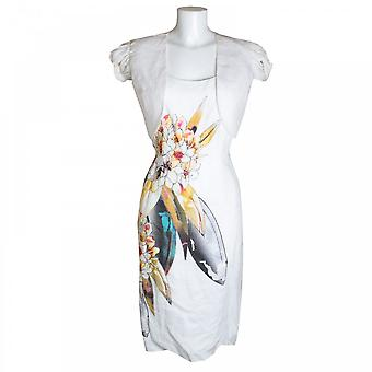 Michaela Louisa Feather Print Dress & Jacket