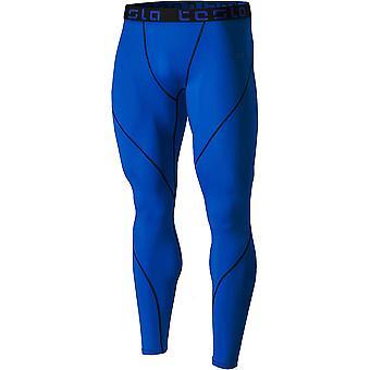 TSLA Tesla MUP19 Cool Dry Baselayer Compression Pants-Blue/Black