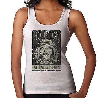 Houston We Have A Problem Astronaut Monkey Women's Vest