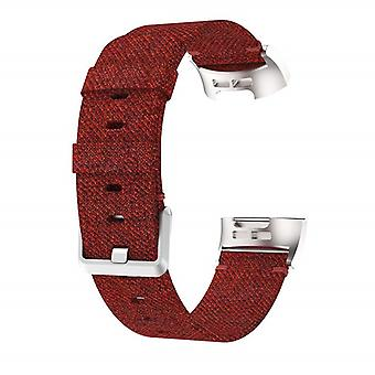 Bracelet compatible with Fitbit Charge 3 Nylon-Red