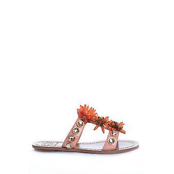 Tory Burch Ezbc074002 Women's Orange Leather Sandals