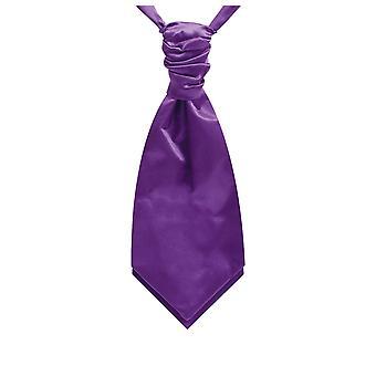 Dobell gutter lilla sateng Cravat pre knyttet