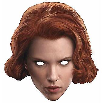 Svart enke Avengers Alder av Ultron Enkelt Kort Fest Fancy Kjole Maske