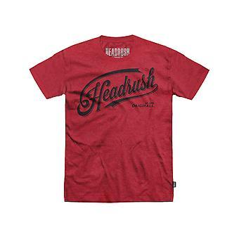 Headrush Mens HR Victory Script T-Shirt - Red/Black - street mma training
