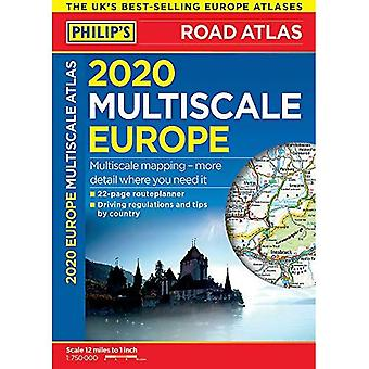 Philip's Multiscale Europe 2020 A4: (Spiral Bound) (Philips Road Atlas)