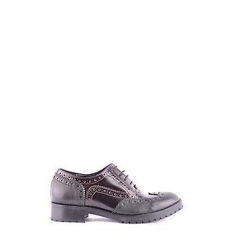 Cl Factory Ezbc249004 Women's Black Leather Lace-up Shoes