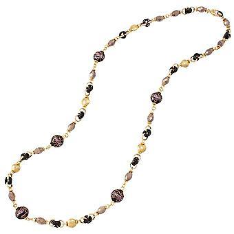 Éternelle Collection Bellino noir collier en verre de Murano