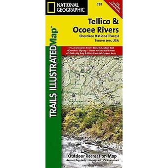 Tellico and Ocoee Rivers - Cherokee National Forest - Trails Illustrat