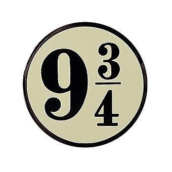 Harry Potter 9 3/4 metall/emalje mini PIN Badge 30mm diameter (Aby)