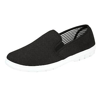 Dr Lightfoot Men's Memory Foam Slip On Canvas Trainers Pumps