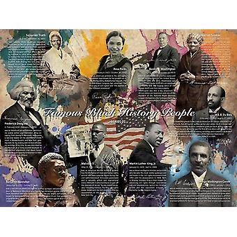 Famous Black History People Poster Series 01 (24x18)