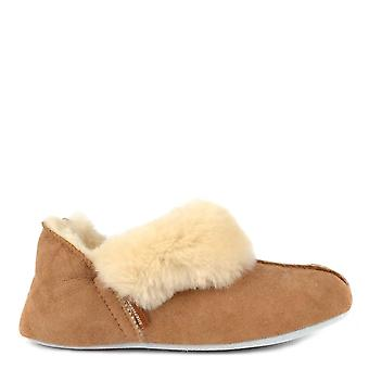 Shepherd of Sweden Nina Chestnut Sheepskin Slipper Boot