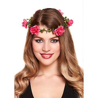Flower garland Pannband-rosa