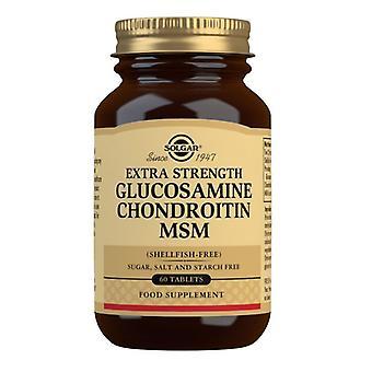 سولغار اضافية قوة الجلوكوزامين شوندرويتين MSM علامات التبويب 60 (1318)