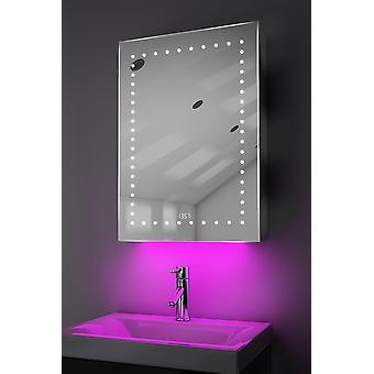 Uhr Gehäuse mit LED unter Beleuchtung, Demister, Sensor & Rasierer k389