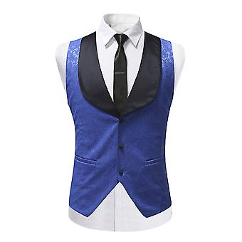 YANGFAN Men's Slim Fit Suit Vests Dress Single Breasted Business Waistcoat
