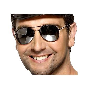Pilotenbrille - Silberrahmen