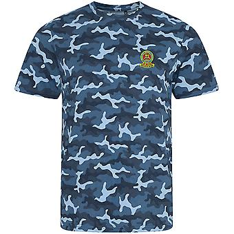 15th 19th Royal Kings Hussars Colour - Licensed British Army Embroidered Camouflage Print T-Shirt