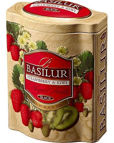 Black Tea With Strawberry&kiwi Flavour In Tin Caddy X100g
