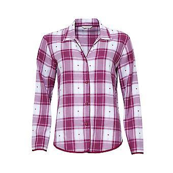 Cyberjammies 4223 vrouwen ' s Susie Cherry rode selectievakje katoen hart pyjama top