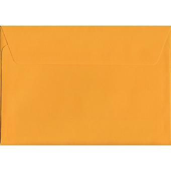 Egg Yellow Peel/Seal C6/A6 Coloured Yellow Envelopes. 120gsm Luxury FSC Certified Paper. 114mm x 162mm. Wallet Style Envelope.