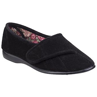 GBS Womens Audrey Touch Fastening Slipper