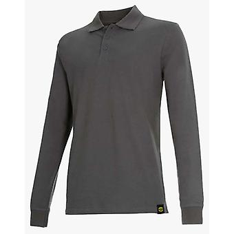 Utility Diadora Long Sleeve Polo Shirt Atlantis Ii Gray (DIY , Tools , Security)