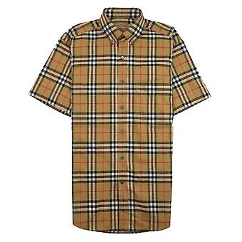 Burberry Jameson Kurzarm Shirt Antik gelb