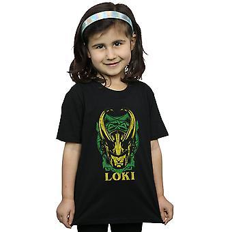 Marvel meisjes Loki badge T-shirt