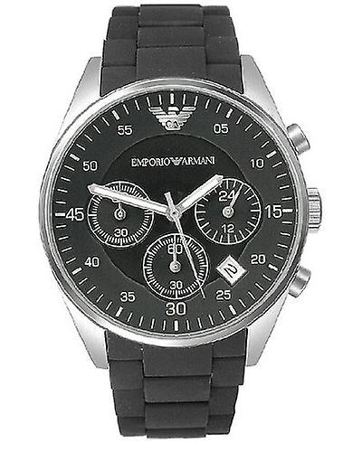 Emporio Armani Sport Black Chronograph Watch Ar5868