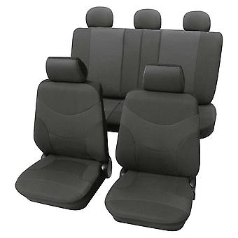 Luxury Dark Grey Car Seat Cover set For Vauxhall Vectra mk2 Estate 2003-2008