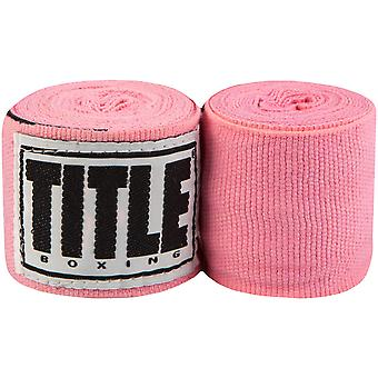 "Title Boxing 180"" Semi Elastic Mexican Handwraps - Neon Pink"
