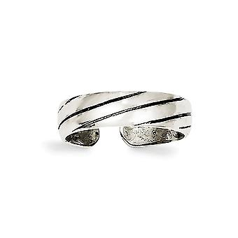925 Sterling Silver Solid finish Toe Ring Jewely Gifts for Women - 1.8 Grams