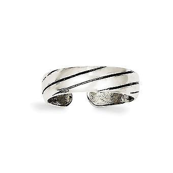 925 Sterling Silber solide antike Finish Antik Zehen Ring Schmuck Geschenke für Frauen - 1,8 Gramm