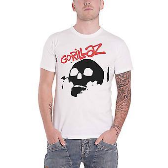 Gorillaz T Shirt Skull Band Logo The Now Now new Official Mens White