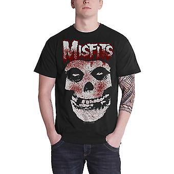 Misfits T Shirt Blood Drip Jarek Skull band logo new Official Mens Black