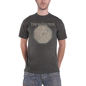 Dream Theater T Shirt Maze Labyrinth Band Logo Official Mens New Grey