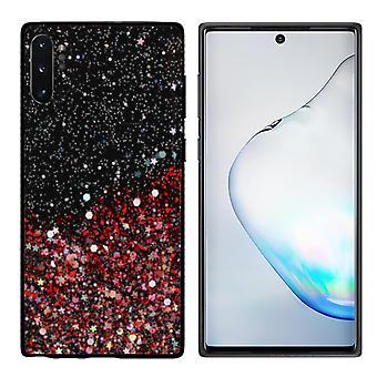 Samsung Note 10 Plus Glitter Case Red/Glitter