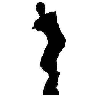Dancing Gamer Single Lifesize Silouette Cardboard Cutout / Standee