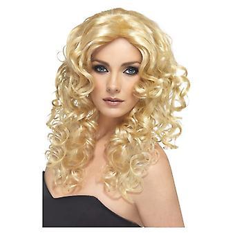レディース グラマー ウィッグ金髪の派手なドレス アクセサリー