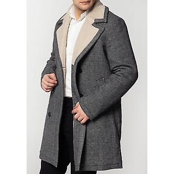 Merc FRASER, Men's Tweed Overcoat with Borg Lining
