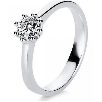 Diamond Ring ring-14K 585 hvitt gull-0,5 CT.