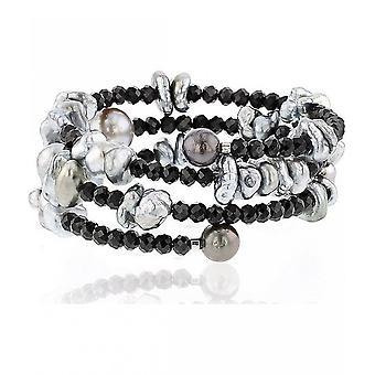 Luna-pärlor pärlstav armband TahitiPerlen 7-10 mm Spinel 2035935