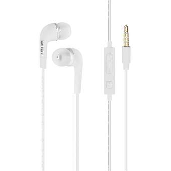 Γνήσια EHS64 λευκά ακουστικά Samsung/δωρεάν/ακουστικά/ακουστικά με έλεγχο έντασης για Samsung Galaxy τηλέφωνα (μη λιανική συσκευασία-μαζική συσκευασία)