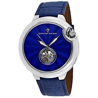 Christian Van Sant Men-apos;s Cyclone Automatic Blue Dial Watch - CV0140