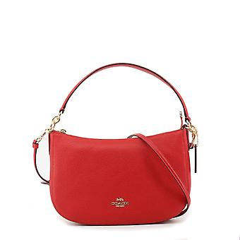 Coach women's leather shoulder bag red 56819