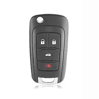 Flip folding remote key case Opel 4 button HU100